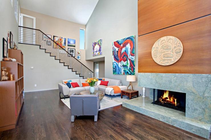 Jolie maison avec vue splendide sur l oc an en californie vivons maison - Cheminee interieur maison ...