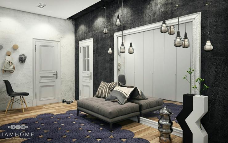 Bel appartement l int rieur design unique en russie - Couleur tendance appartement ...
