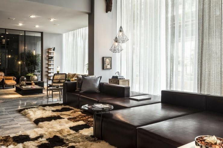 Loft au design clectique en guise de villa de vacances for Ambiance salon design
