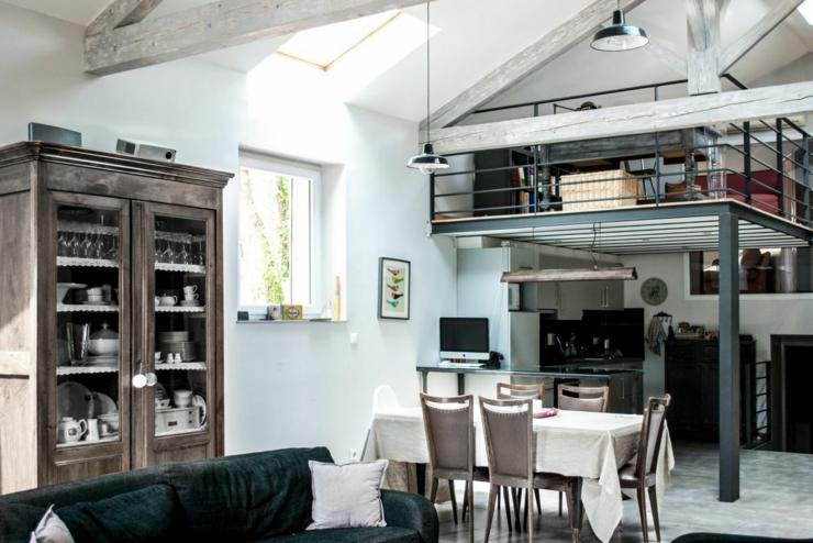 Ancienne papeterie transform e en loft industriel en france vivons maison - Loft design industriel cloud studio ...