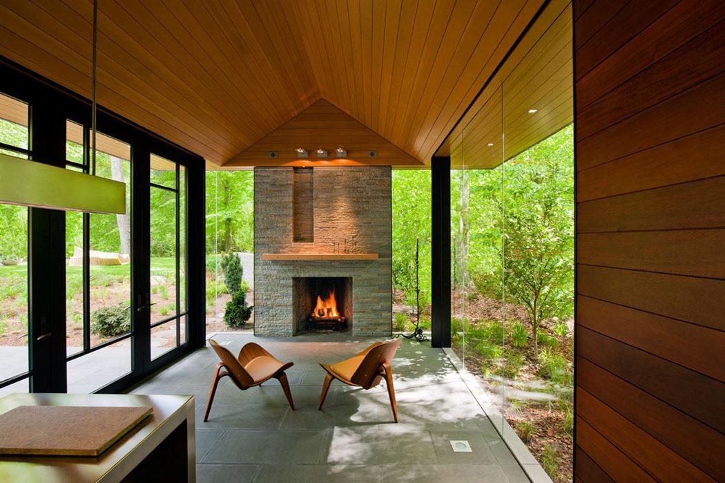 Petit pavillon r sidentiel d architecte proche de la ville de washington vivons maison - Maison de ville rustique adelaide ...