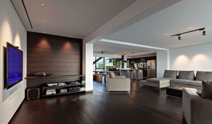 Appartement en duplex l ambiance minimaliste masculine for Appartement design homme