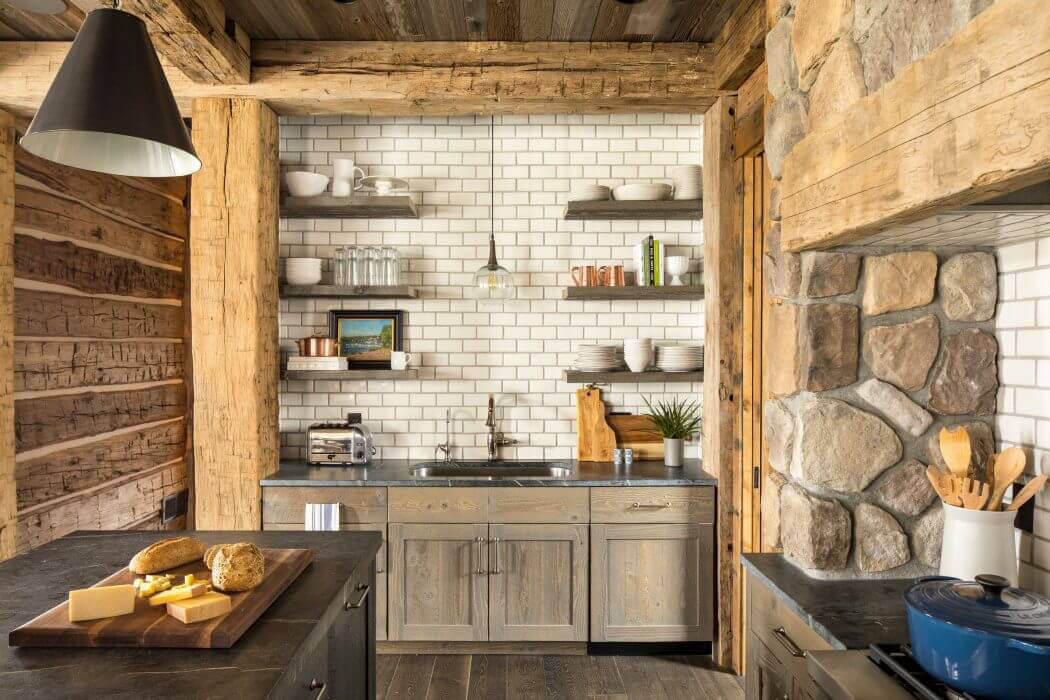 Superbe maison de campagne illinois au design int rieur for Deco cuisine rustique