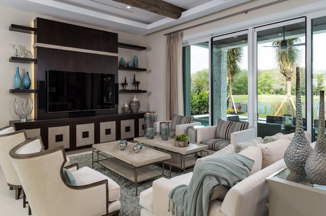 Belle maison de vacances exotiques avec vue sur l eau en for Sejour design