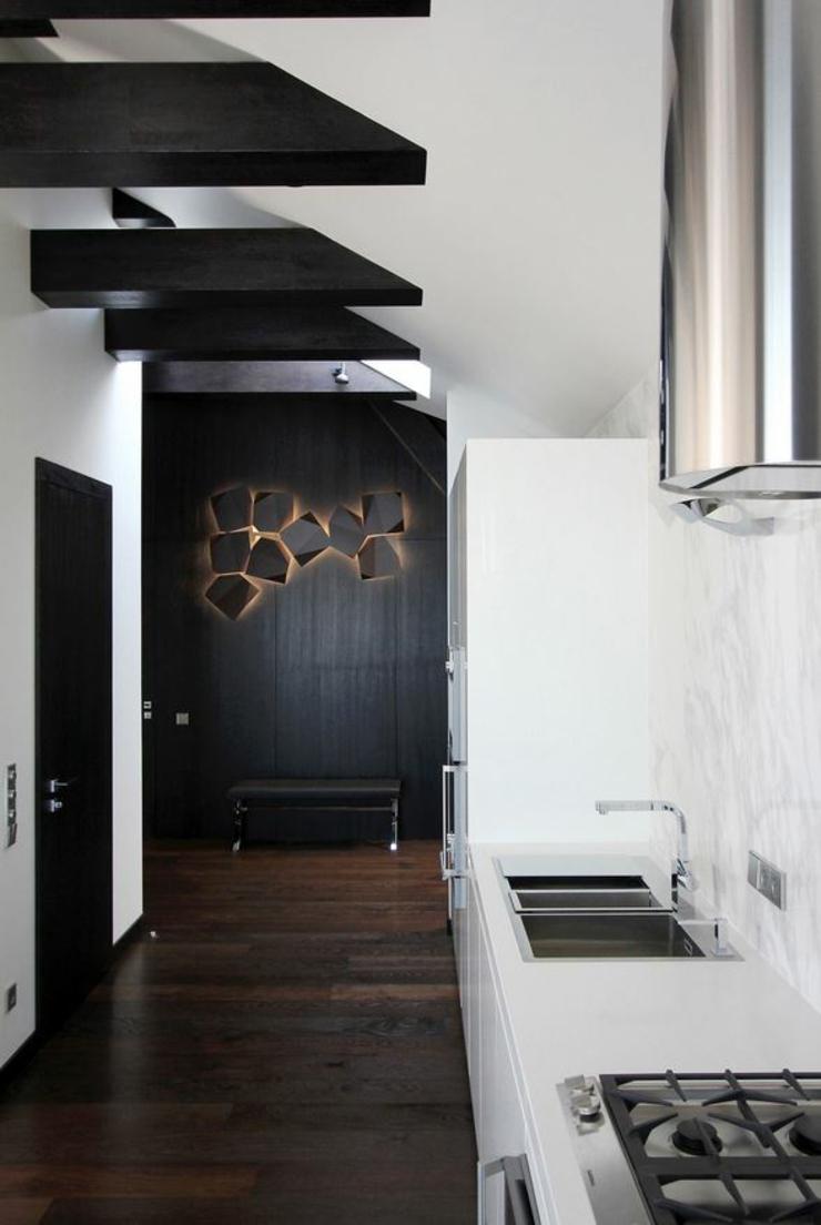 Appartement moderne aménagé dans les combles d'un immeuble à ...