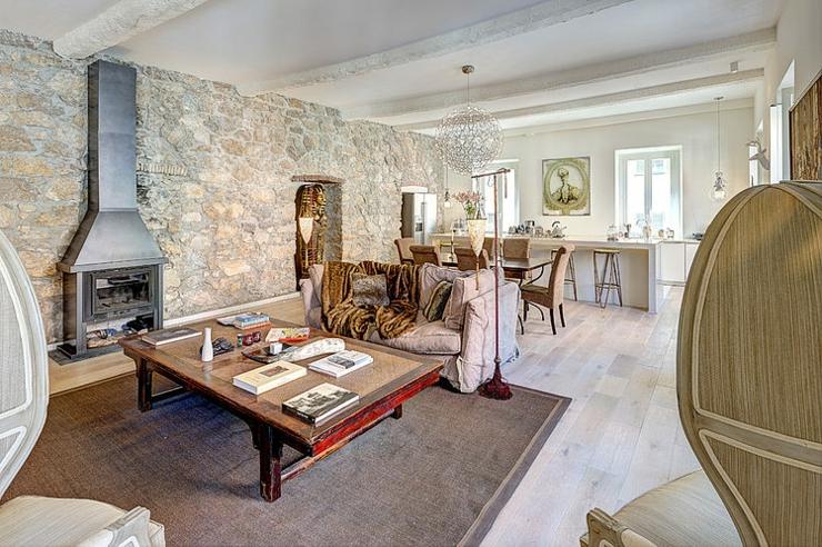 Appartement de ville au design int rieur rustique vivons for Decoration interieur avec pierre