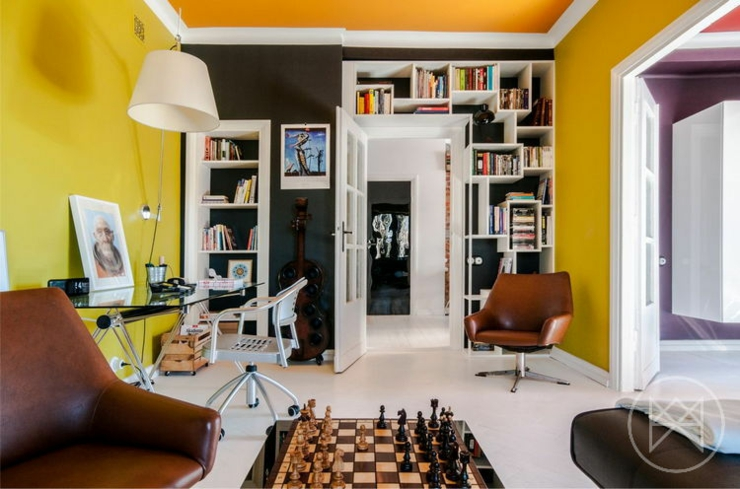 Appartement moderne aux couleurs prononc es varsovie - Appartement moderne susan manrao design ...
