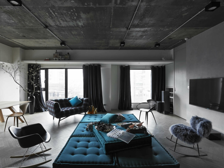 appartement design l ambiance minimaliste taipei. Black Bedroom Furniture Sets. Home Design Ideas