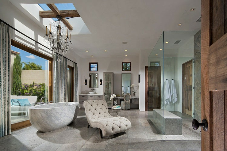 salle de bain rustique contemporain belle demeure n wells par urban arena vivons maison - Salle De Bain Contemporaine Luxe