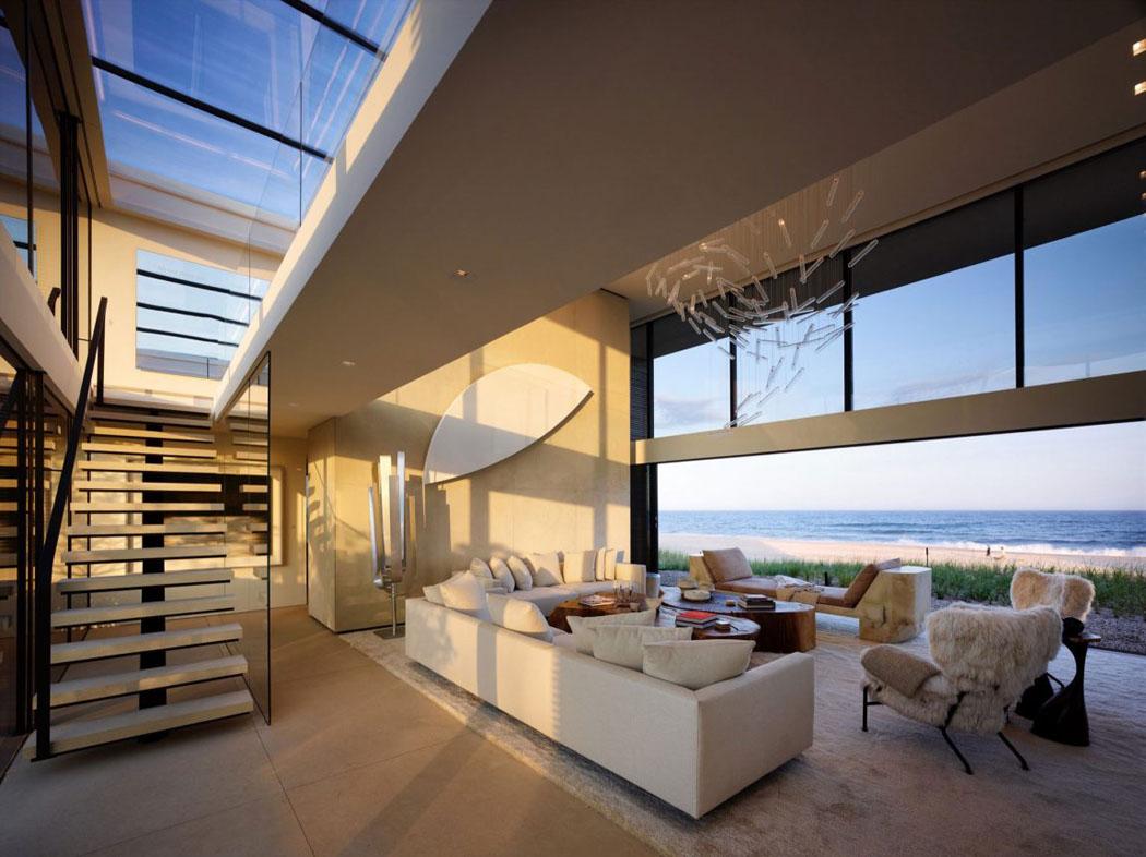 Une belle maison de vacances pr s de new york l architecture moderne et l int rieur luxueux - Residence de vacances contemporaine miami ...
