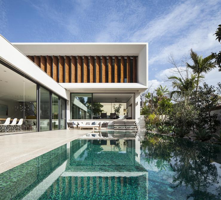 Superbe maison d architecte dans les environs de tel aviv for Architecte maison de luxe