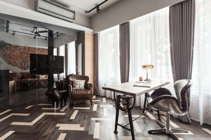 Appartement moderne à taipei au design industriel et rustique à la
