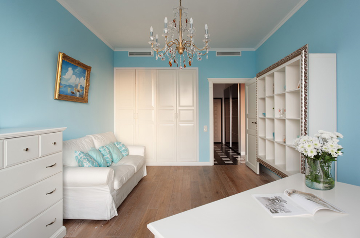 Bel appartement au design moderne et accueillant moscou for Decoration d une chambre a coucher