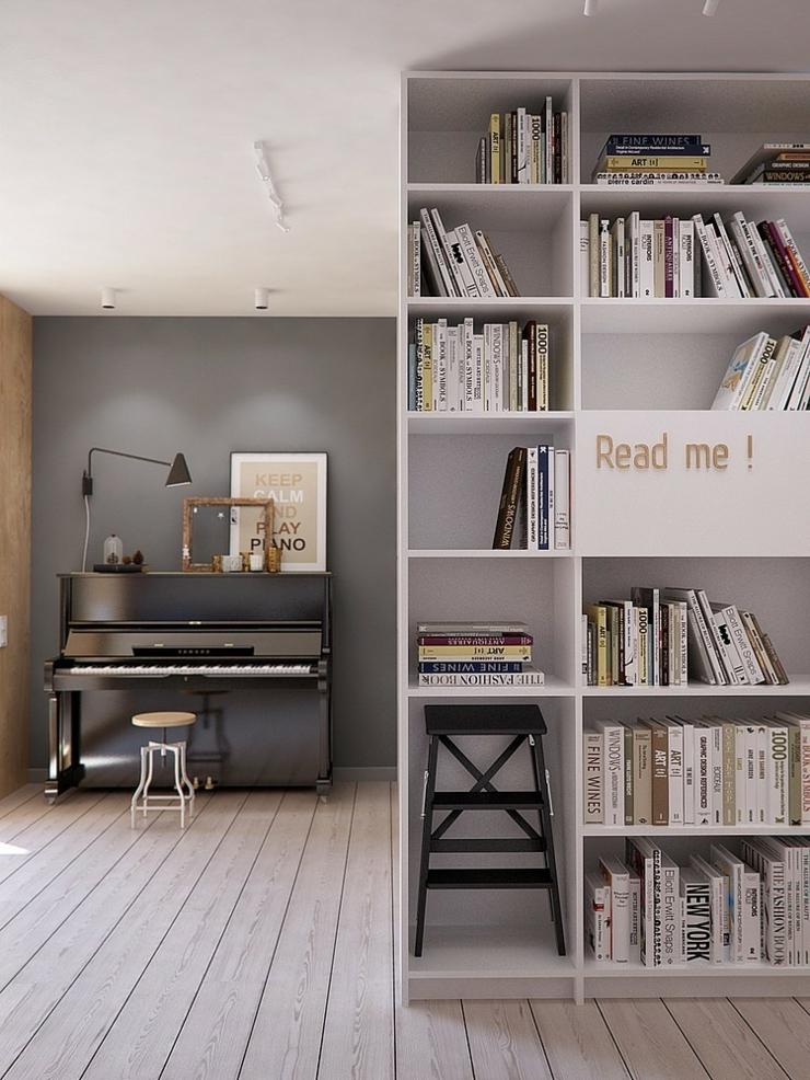appartement moderne aux faux airs d un loft vivons maison. Black Bedroom Furniture Sets. Home Design Ideas