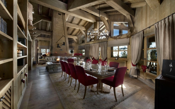 Beau chalet de luxe courchevel vivons maison for Salle a manger de luxe design