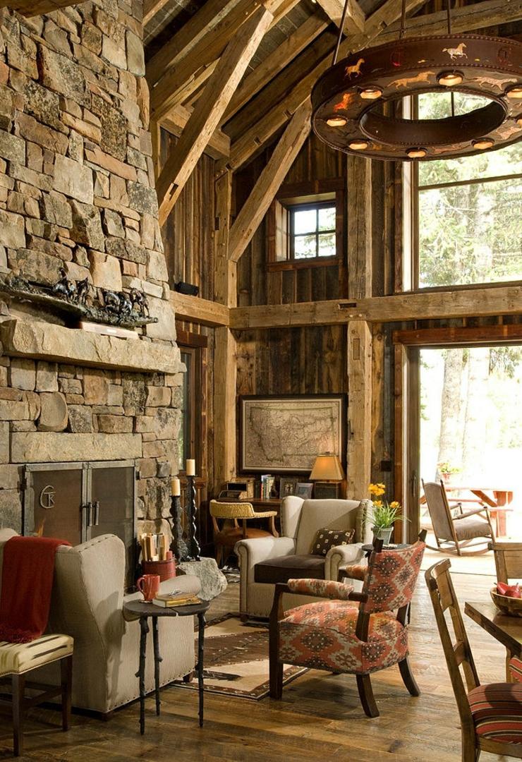 Chalet en bois l me tr s rustique vivons maison - Decoration interieur chalet bois ...