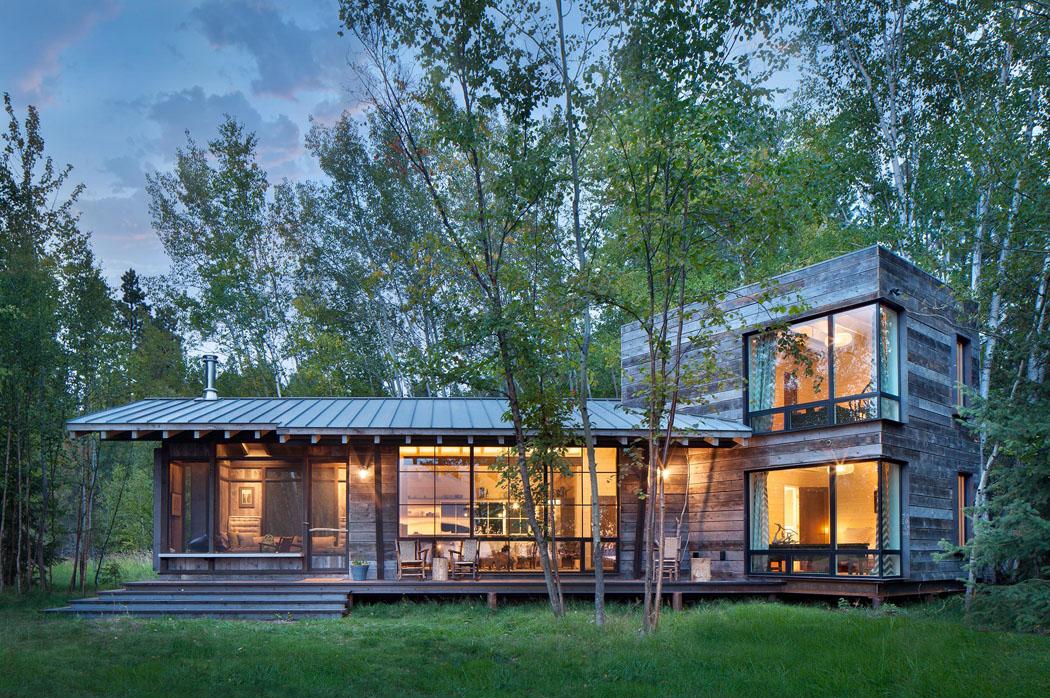 Superbe chalet rustique nich au c ur d un cadre verdoyant - Residence de vacances gedney architecte ...