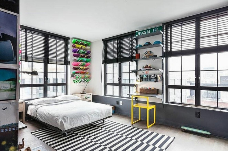 Bel appartement brooklyn au design clectique vivons maison for Chambre loft ado