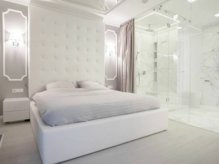 Appartement moderne au design pur en blanc varsovie for Chambre a coucher moderne avec dressing
