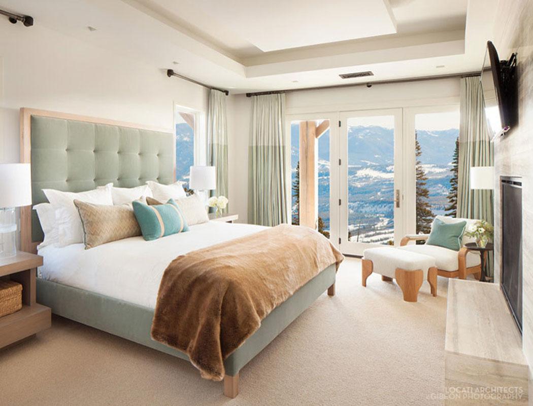 Belle r sidence de luxe montana avec de splendides vue - Chambre a coucher de luxe moderne ...