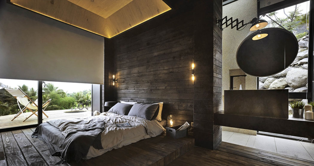 magnifique villa de vacances taiwan s tendant sur trois. Black Bedroom Furniture Sets. Home Design Ideas