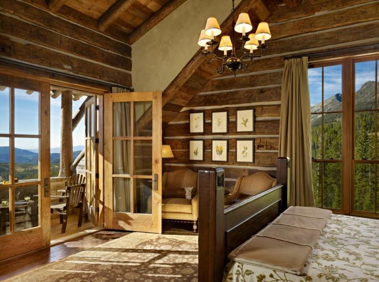 Maison rustique enti rement en bois au montana tats - Magnifique maison avec vue la laguna beach ...