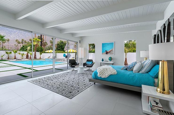 une des chambres coucher de cette belle demeure de luxe