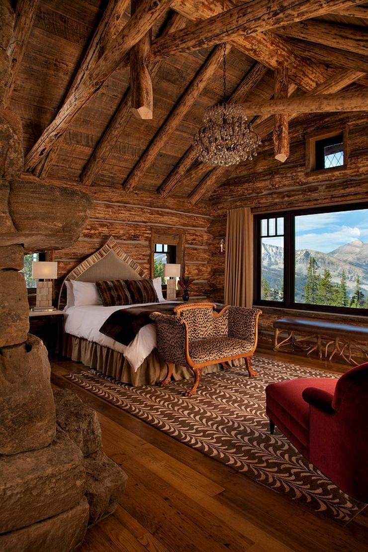 Belle maison de charme construite en bois vivons maison for Winter cabin bedding