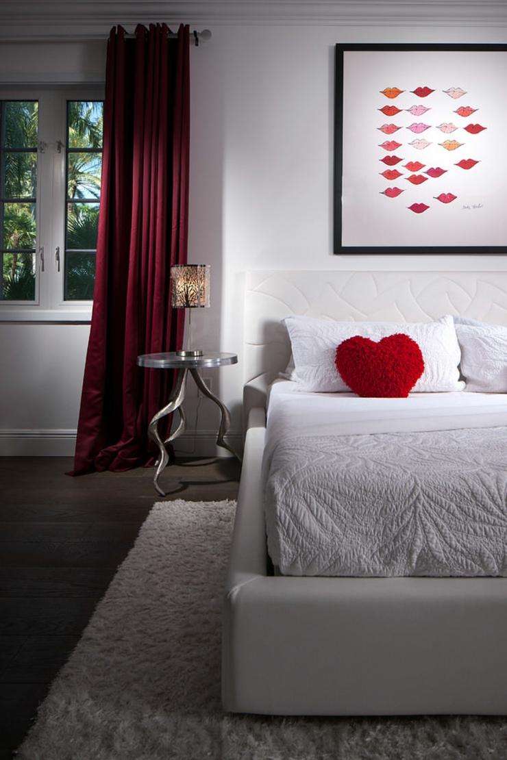 Chambre Adulte Romantique De Luxe : Deco chambre romantique blanc adulte rouge et