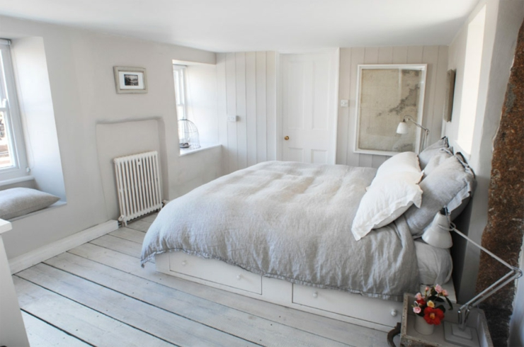chambre double lit the oyster catcher cottage