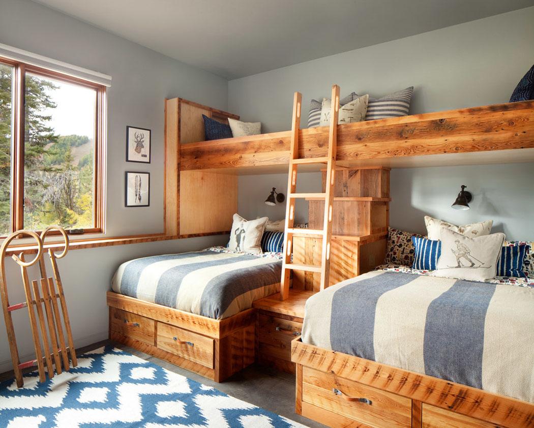 Beau chalet de ski au Montana au design rustique et moderne avec belle vue sur la montagne  # Lits Superposés En Bois