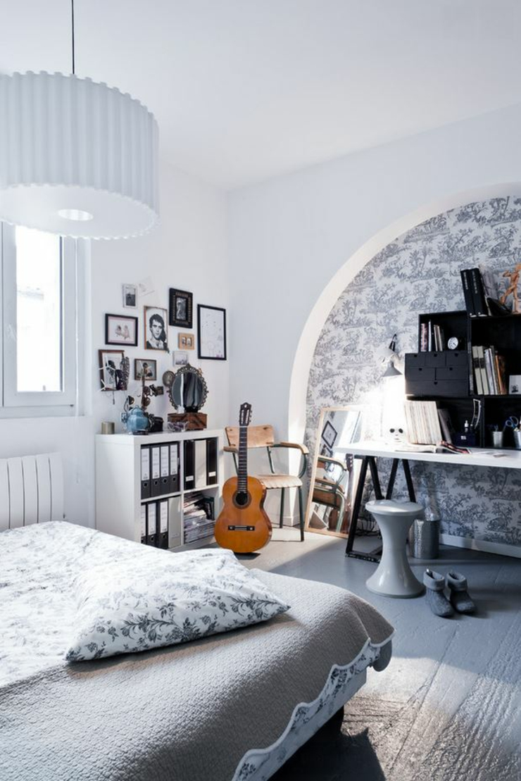 Loft industriel au design int rieur d inspiration for Chambre de parents design