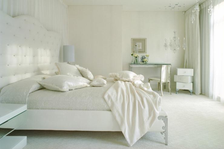 Intérieur moderne et chambre à coucher raffinée