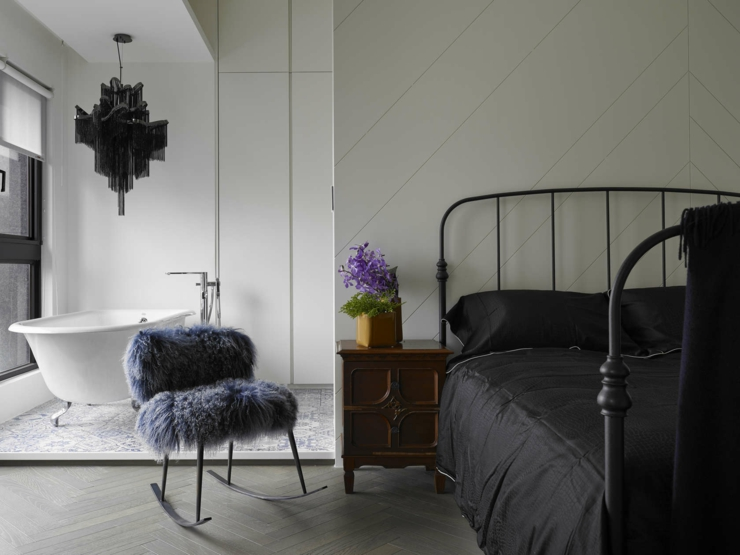chambre minimaliste moderne appartement design