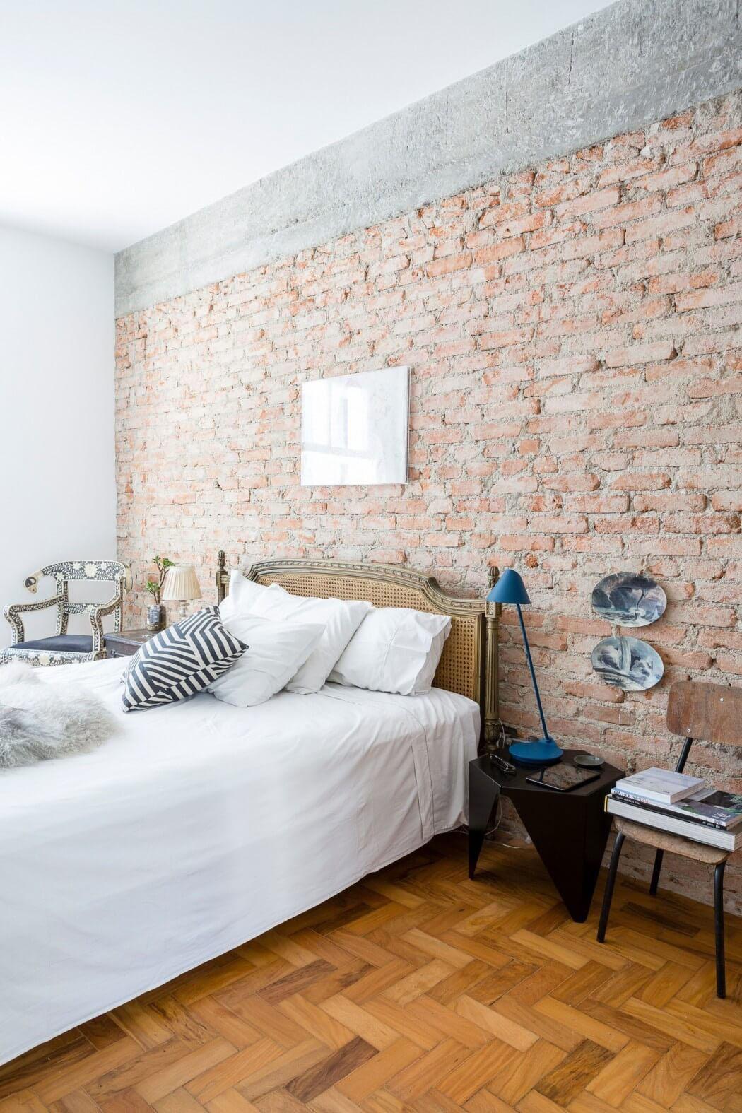 d co appartement brique. Black Bedroom Furniture Sets. Home Design Ideas