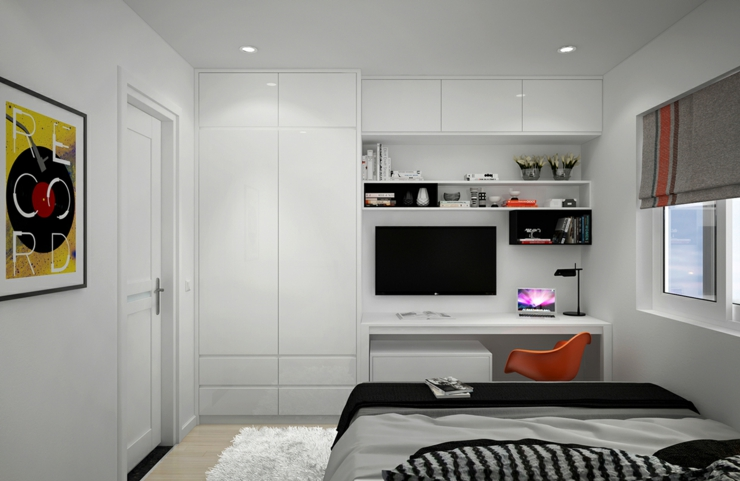 appartement citadin meubl selon les principes du design. Black Bedroom Furniture Sets. Home Design Ideas