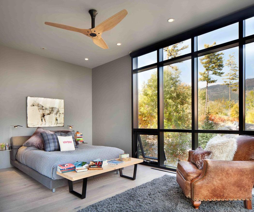Moderne maison rustique l architecture et agencement for Chambre avec vues