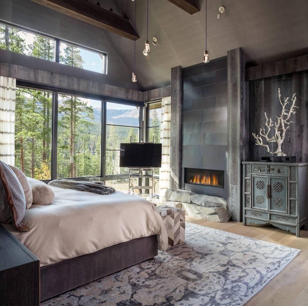 Chalet De Montagne à Lintérieur Rustique Luxueux Dans Le Colorado