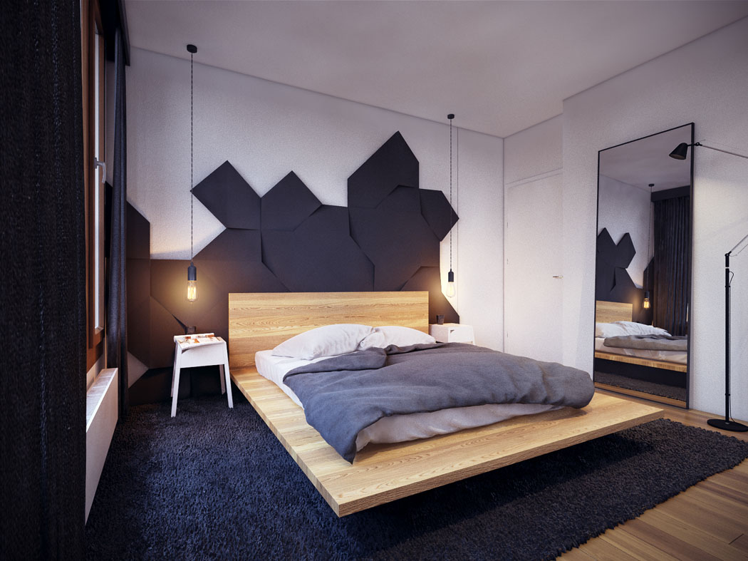 Appartement moderne au design minimaliste et chaleureux - Chambre moderne ...