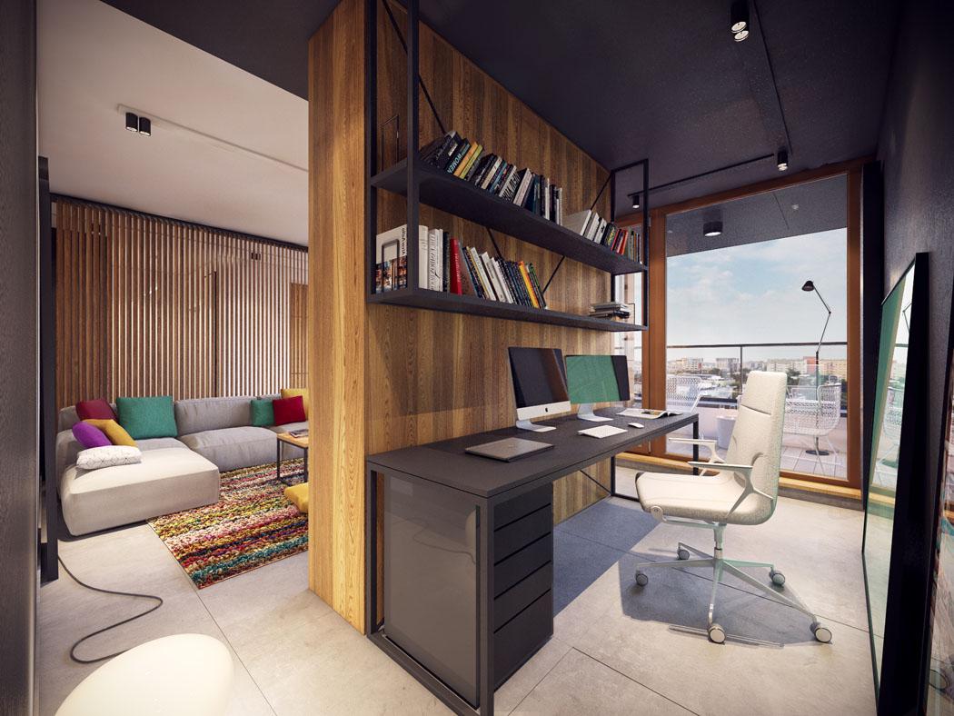 Appartement moderne au design minimaliste et chaleureux - Bureau de salon design ...
