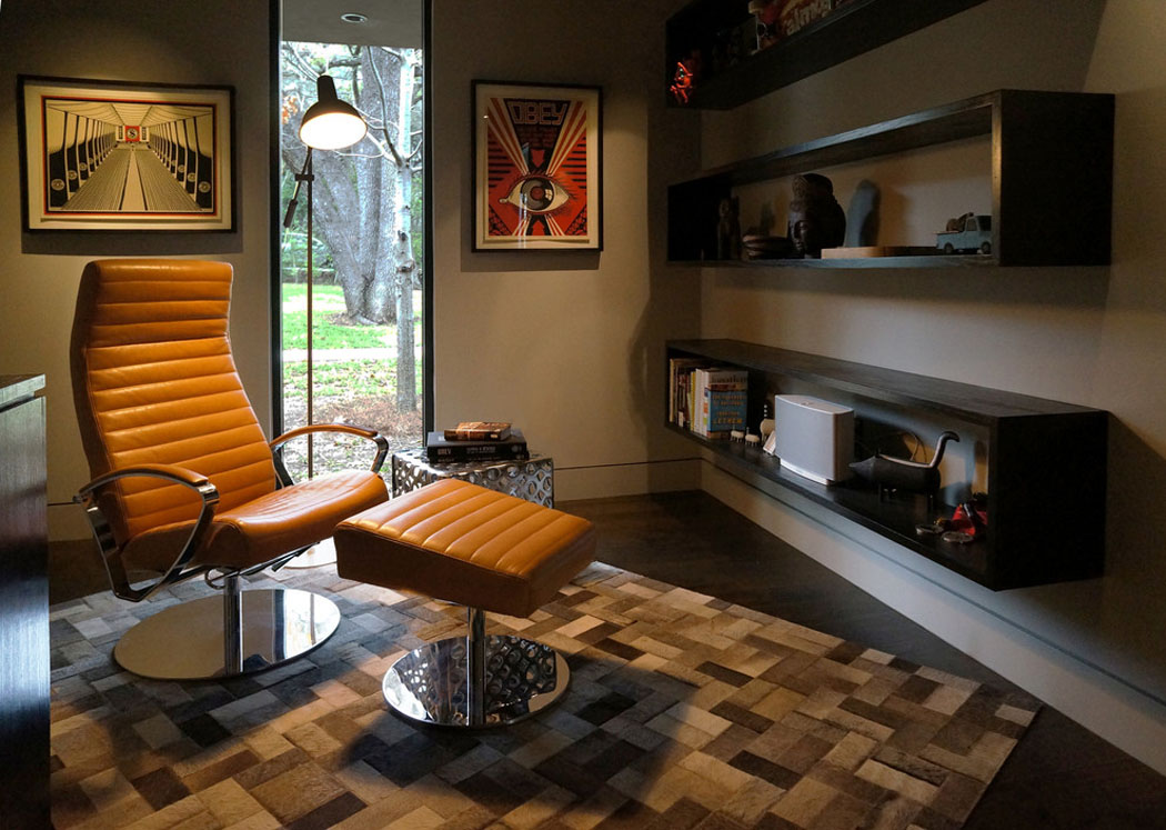 Belle maison r nov e au design moderne et d co contrast e for Agencement piece maison