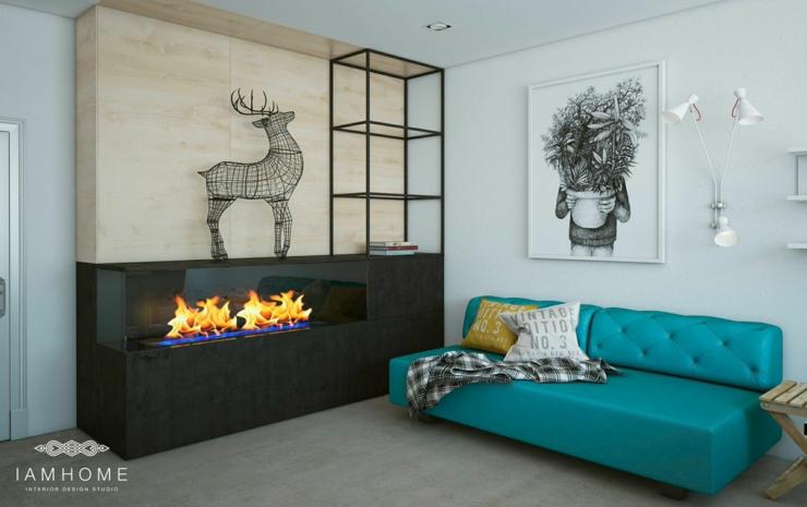 Bel appartement l int rieur design unique en russie for Interieur artistique