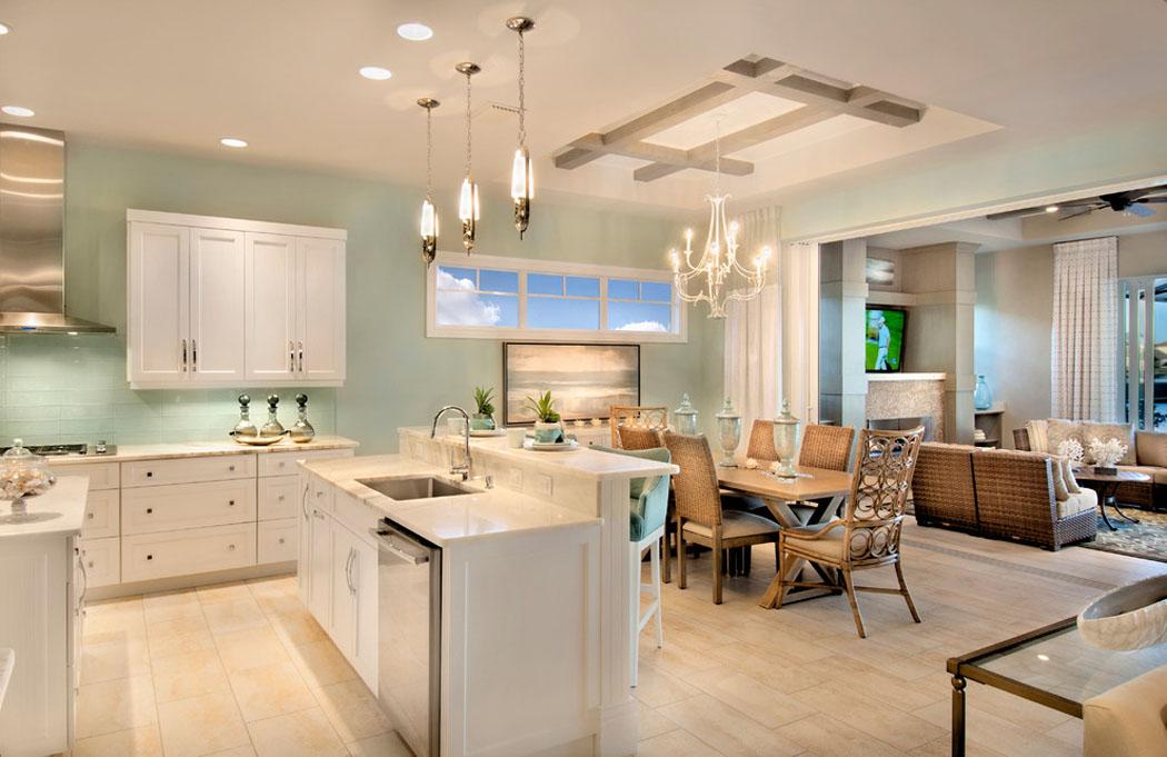 Belle demeure miami l architecture int rieure ouverte et originale vivons maison - Cuisine americaine blanche ...