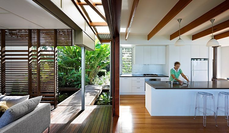 Eco friendly maison contemporaine en australie vivons maison Kitchen garden design australia