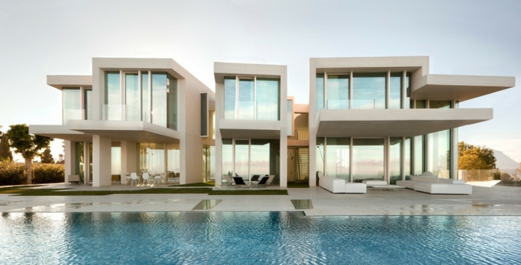 Magnifique villa de luxe minorque espagne vivons maison Villas contemporaines de luxe