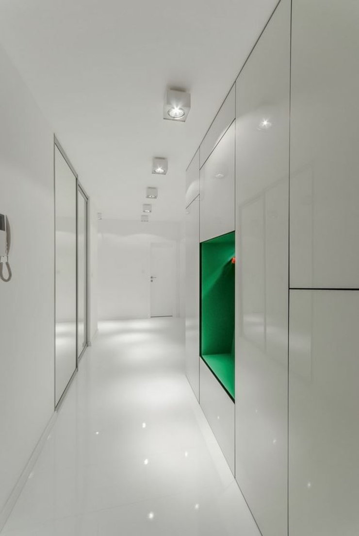 couloir design futuriste loft