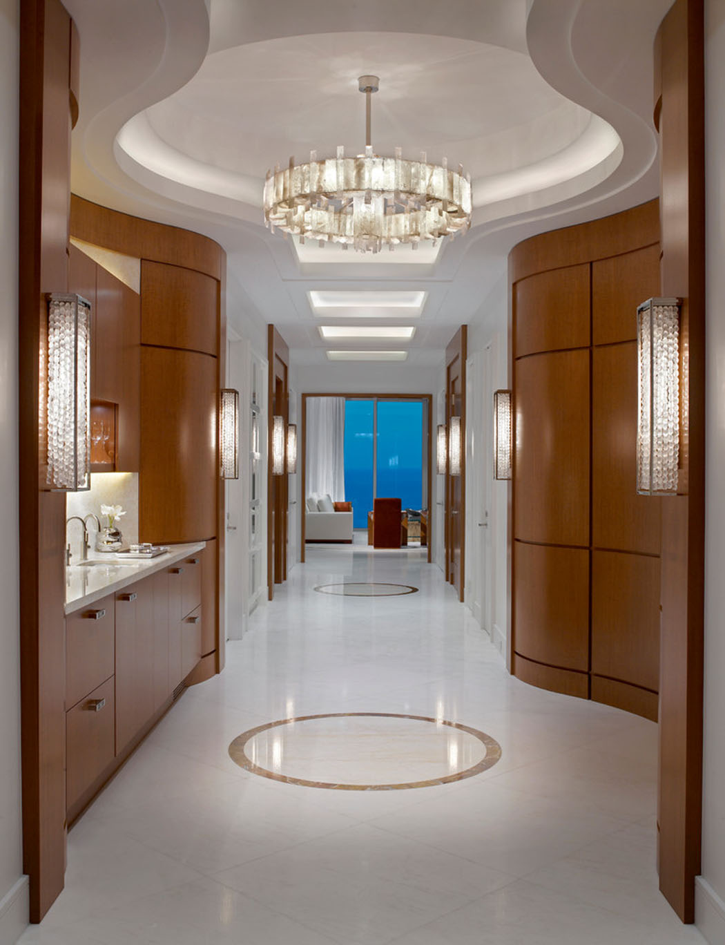 R sidence de vacances luxueuse miami avec splendide vue - Couleur couloir appartement ...