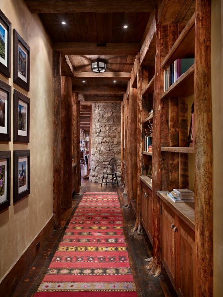 maison rustique enti rement en bois au montana tats. Black Bedroom Furniture Sets. Home Design Ideas
