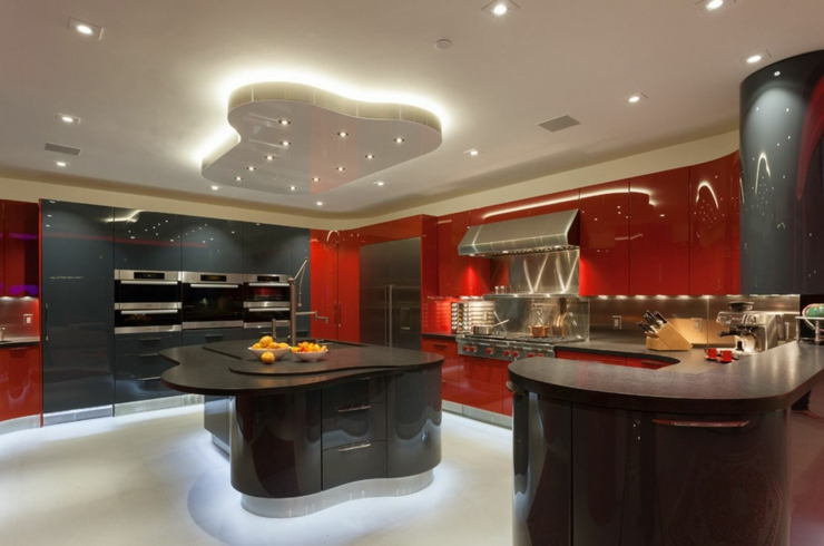 Cuisine moderne villa pr l vement d for Cuisine amenagee design