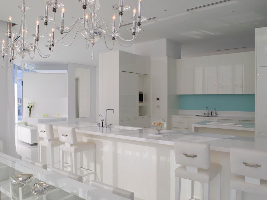 Magnifique appartement de vacances avec vue imprenable sur for Tiffany blue kitchen ideas